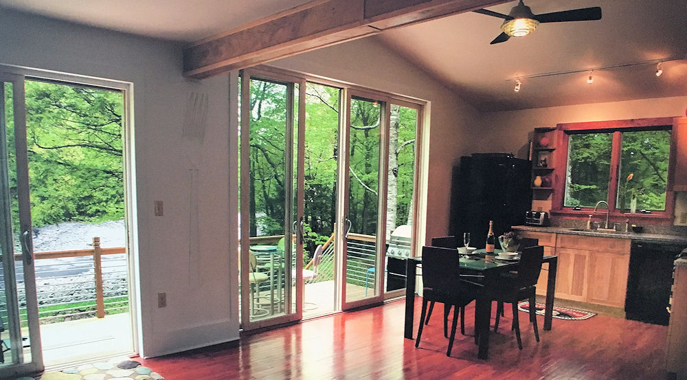 Interior view of vacation cottage