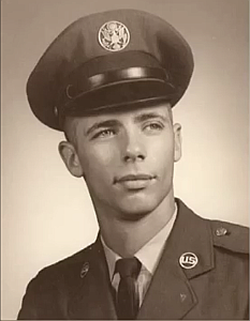 Young Marty Klein in USAF dress uniform
